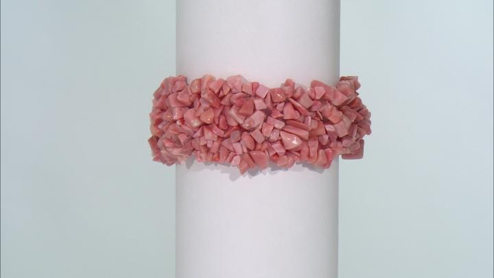 Peach Opal Stretch Bracelet Approximately 100ctw