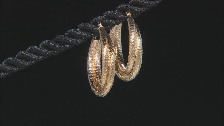 14K Yellow Gold Double Tube Hoop Earrings