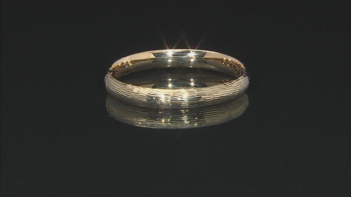 14K Yellow Gold Diamond Cut Hinged Bracelet 7 Inch