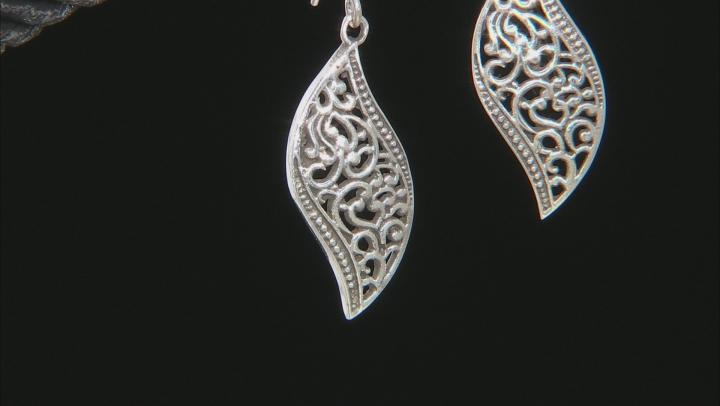 Sterling Silver Dangle Design Earrings