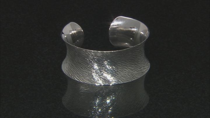 Sterling Silver Textured Cuff Bracelet 7 Inch