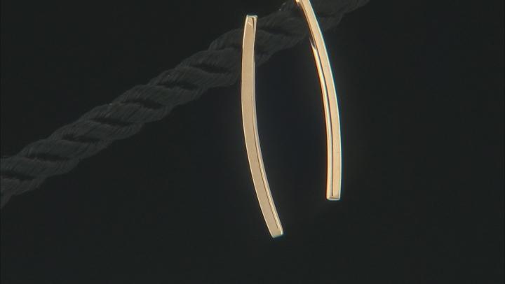 14k Yellow Gold Vertical Bar Drop Earrings