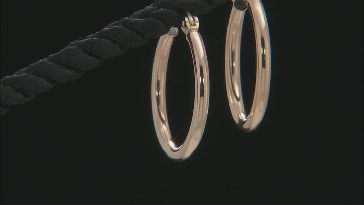 14k Yellow Gold 20mm Hoop Earrings
