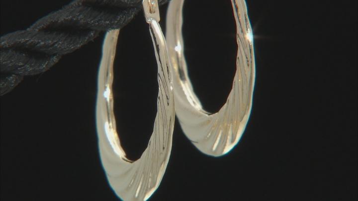 10K Yellow Gold Swirl Hoop Earrings