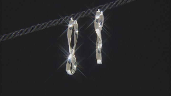 Sterling Silver Elongated Infinity Earrings