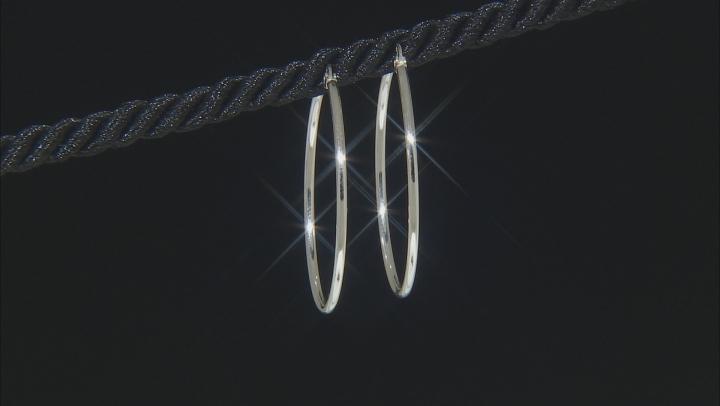 Sterling Silver Set of 2 35MM and 45MM Hoop Earrings