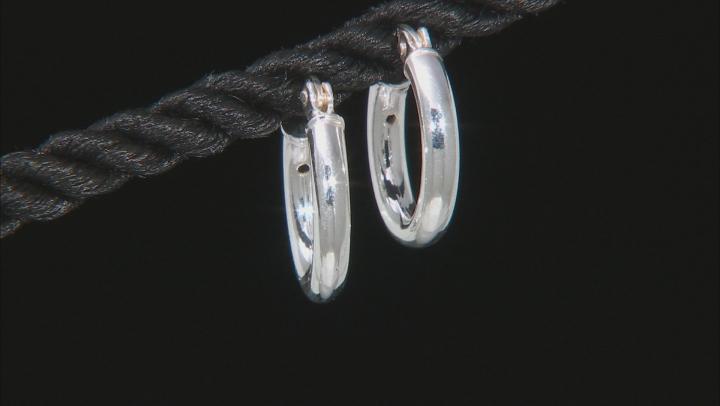 Sterling Silver Set of 3 12MM, 14MM, and 18MM Hoop Earrings