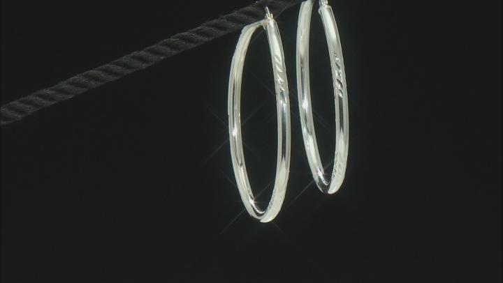 Sterling Silver 55MM Hoop Earrings
