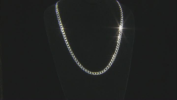 Sterling Silver Diamond-Cut 6.5MM Curb Chain