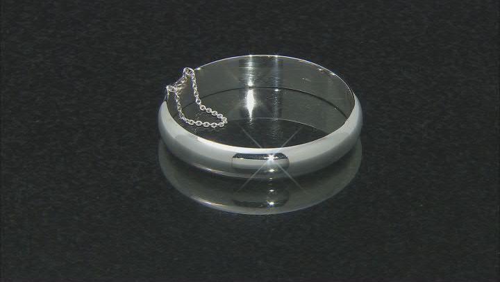 Sterling Silver Diamond-Cut Hinged 15MM Bangle Bracelet