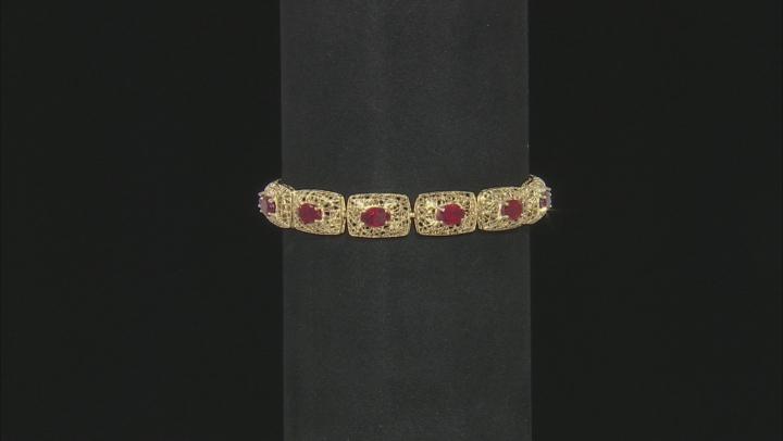 Red Mahaleo® Ruby 10k Gold Bracelet 8.83ctw