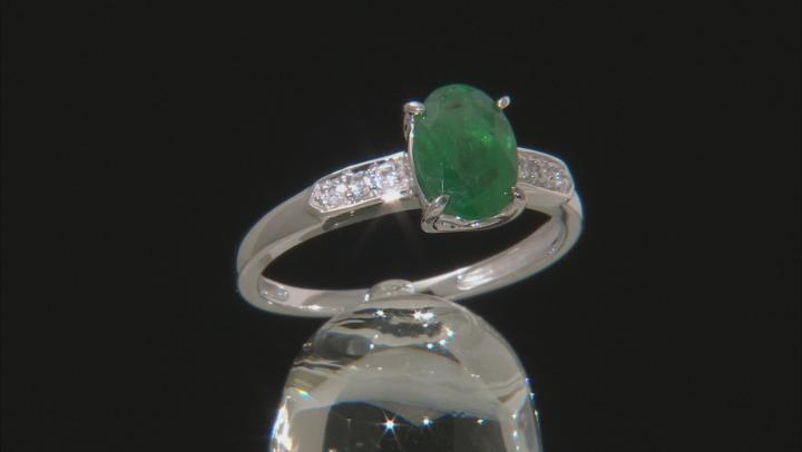 Green Apaptite 10k White Gold Ring 1.22ctw