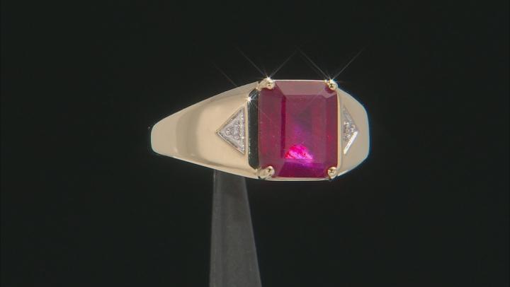 Mahaleo Ruby 10k Yellow Gold Ring 4.56ctw