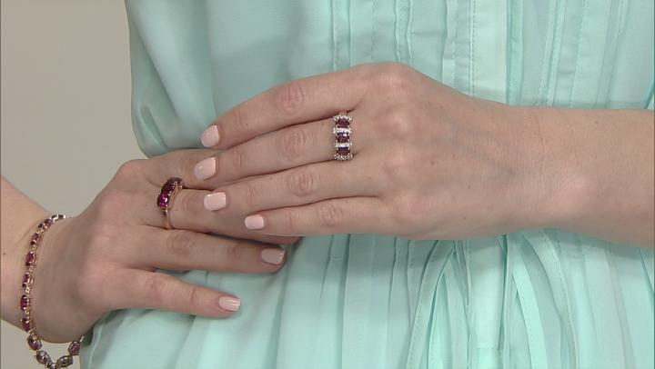 Grape Color Garnet 10k Rose Gold Ring 1.62ctw