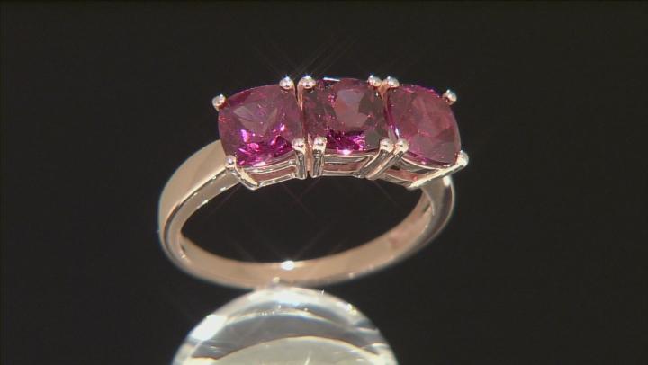Grape Color Garnet 10k Rose Gold Ring 2.81ctw