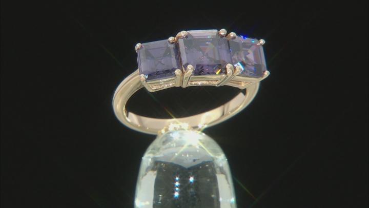 Purple Fabulite Strontium Titanate 10k Yellow Gold Ring 5.13ctw