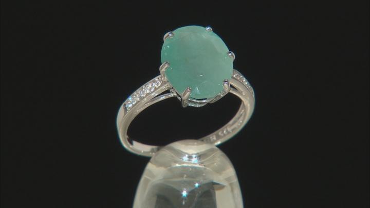 Green Grandidierite Sterling Silver Ring 5.84ctw