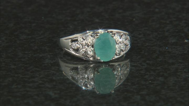 Green Grandidierite Sterling Silver Ring 1.26ctw