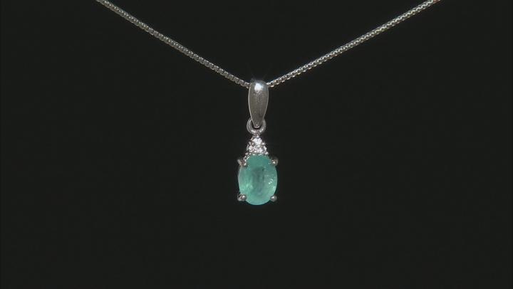 Green Grandidierite Sterling Silver Pendant 1.27ctw.