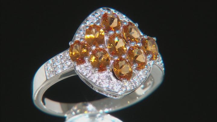 Orange Mandarin Garnet Sterling Silver Ring 1.62ctw