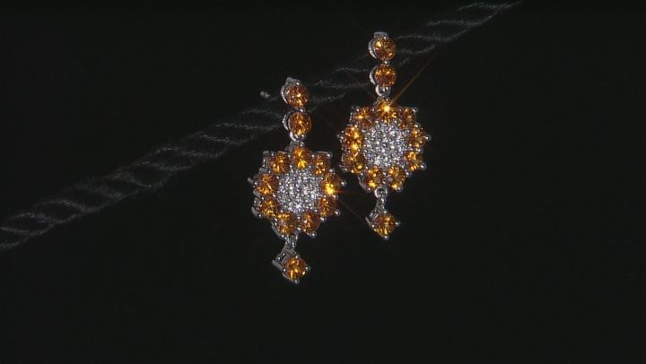 Orange Sapphire Sterling Silver Earrings 4.95ctw