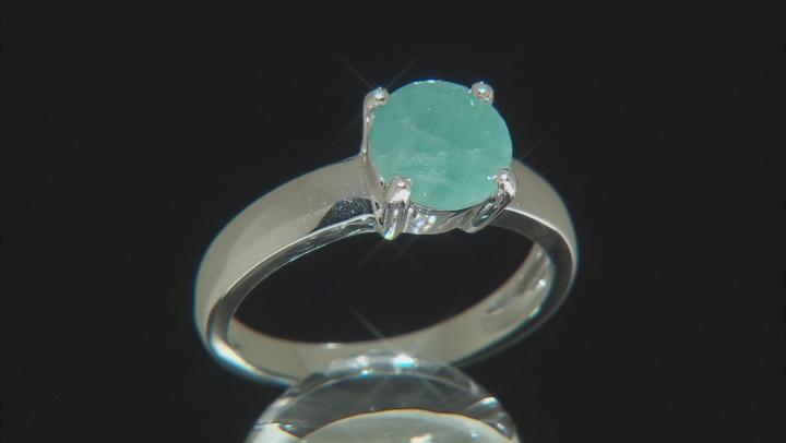 Green Grandidierite Rhodium Over Silver Ring 1.95ctw