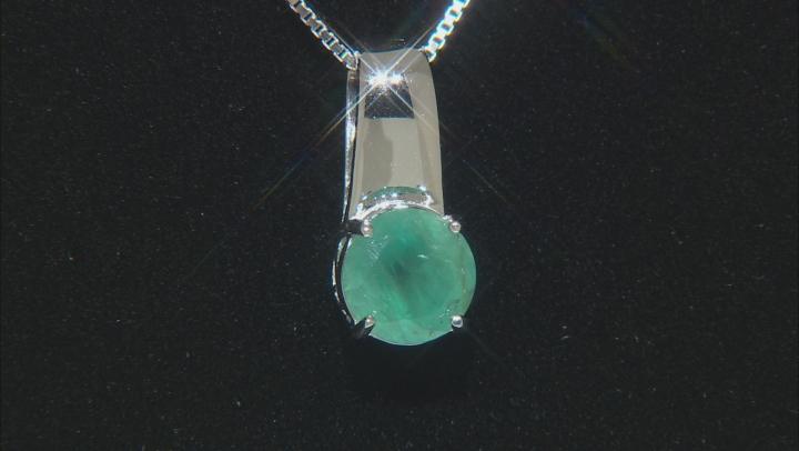 Green Grandidierite Rhodium Over Silver Pendant With Chain 1.95ctw
