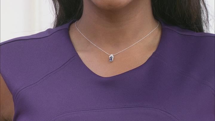 Ocean Tanzanite Rhodium Over Silver Pendant With Chain 1.02ctw