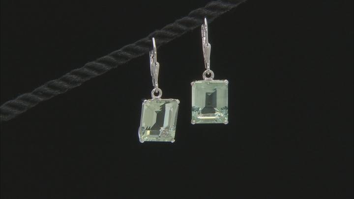 Green Prasiolite Sterling Silver Earrings 8.00ctw