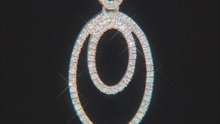 "White Diamond Rhodium Over Sterling Silver Pendant W/ 20"" Cable Chain 0.15ctw"