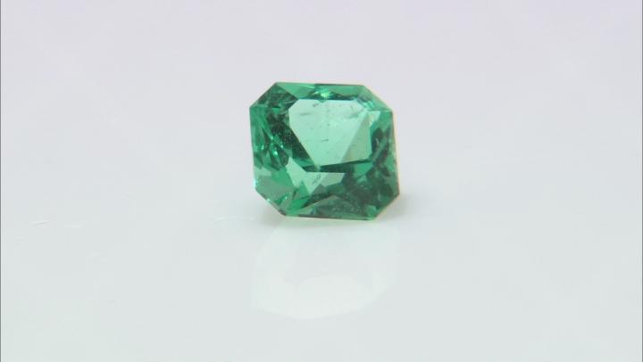 Emerald Ethiopia 6.4mm square octagonal princess cut 1.20ct