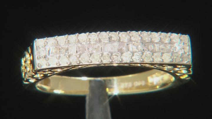 Engild™ White Diamond 14k Yellow Gold Over Sterling Silver Ring 0.40ctw