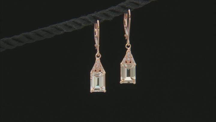 Pink Morganite 14k Rose Gold Earrings 2.54ctw