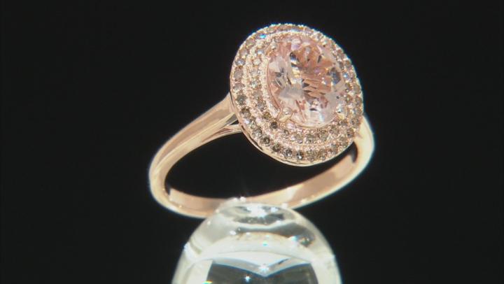 Pink Morganite 10k Rose Gold Ring 1.43ctw
