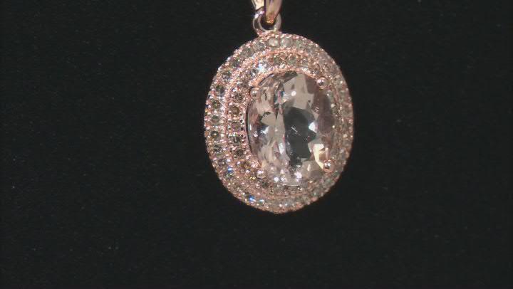 Peach Morganite 10k Rose Gold Pendant With Chain 1.43ctw