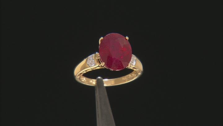 Mahaleo Ruby 10k Yellow Gold Ring 6.00ctw