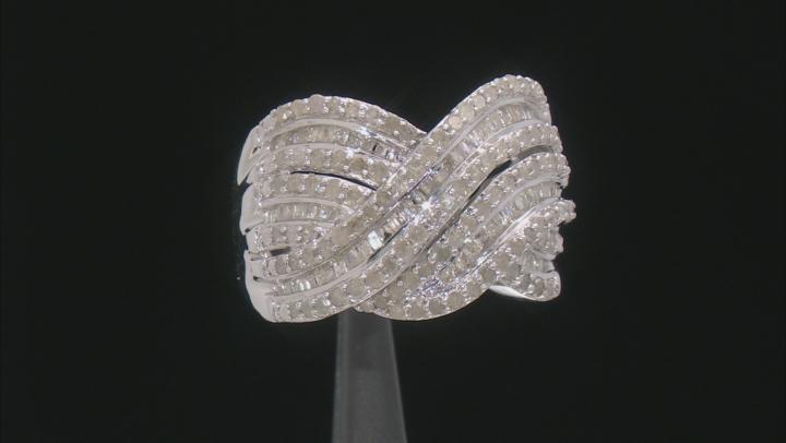 Diamond Rhodium Over Sterling Silver Ring 1.50ctw