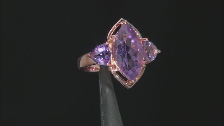 Lavender Amethyst 18K Rose Gold Over Sterling Silver Ring 4.60ctw