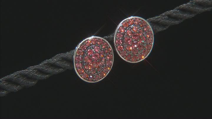 Vermelho Garnet™ Rhodium Over Sterling Silver Stud Earrings 1.01ctw