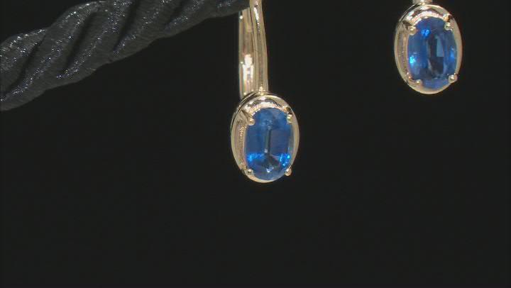 Blue Kyanite 18K Yellow Gold Over Sterling Silver Earrings 1.00ctw