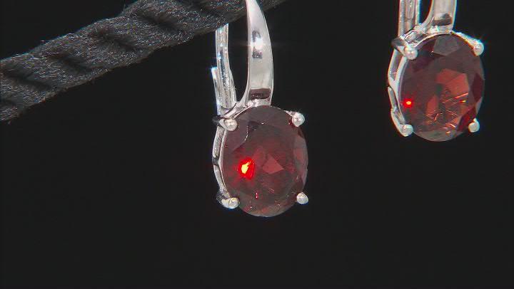 Vermelho Garnet™ Rhodium Over Sterling Silver Earrings 3.57ctw