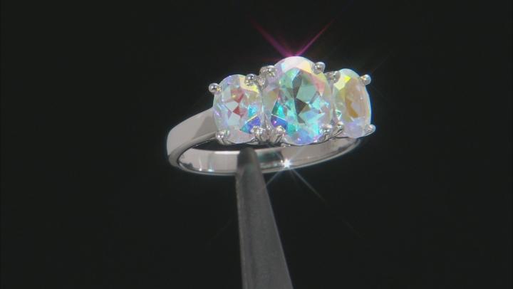 Multi-Color Mercury Mist(R) Topaz Rhodium Over Silver Ring 3.53ctw