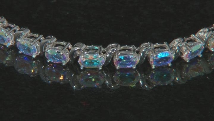 Multicolor Mercury Mist(R) topaz rhodium over silver bracelet 10.23ctw