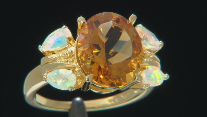 Golden Citrine 18k Gold Over Silver Ring 4.41ctw