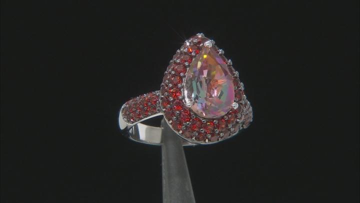 Northern Lights™ quartz rhodium over silver ring. 4.29ctw