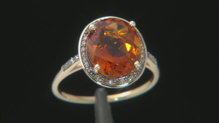 Orange Madeira Citrine 10k Yellow Gold Ring 4.16ctw