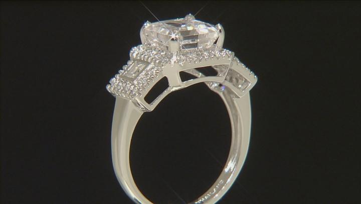 White Danburite 10k White Gold Ring 2.78ctw.