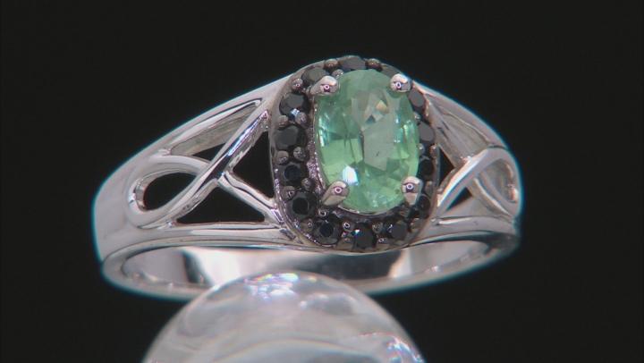 Green Mint Kyanite Sterling Silver Ring 1.07ctw