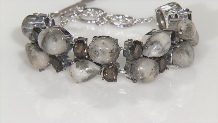 Golden Pyrite Sterling Silver Bracelet 7.87ctw