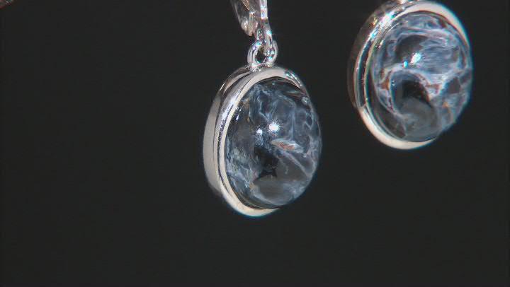 Blue Pietersite Sterling Silver Earrings